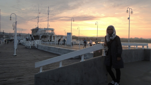 Molo pier and the sunset