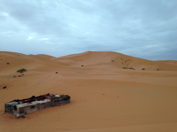 Our camp in Sahara